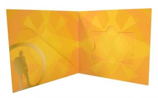 Упаковка для пластиковой карты, буклета + слипкейс