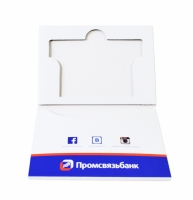 Компактная упаковка для пластиковой карты и буклета