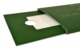 Упаковка-слайдер для пластиковой карты под заказ