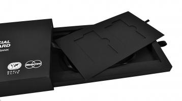 Подарочная коробка для кредитной карты с диодной подсветкой