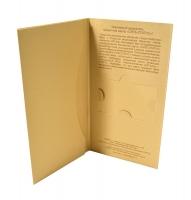 Упаковка из дизайнерского картона для пластиковой карты и буклета
