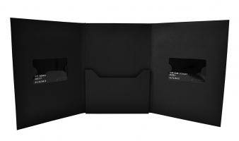 Упаковка для двух карт и буклета, со скрытым магнитом